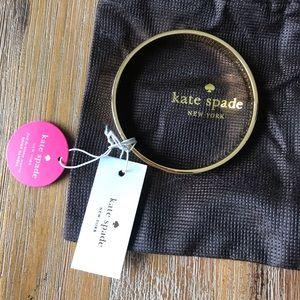 NWT Kate Spade bride idiom gold bangle